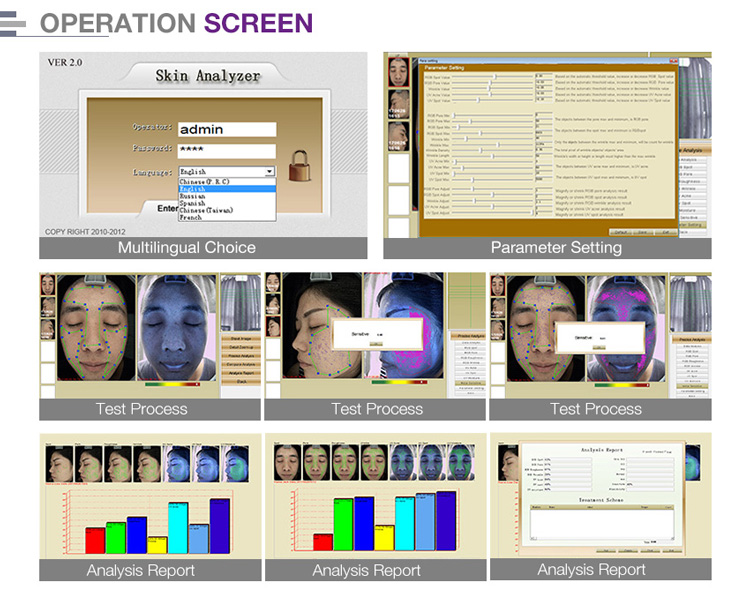 facial skin scanner analyzer